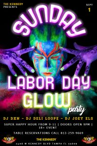 SEPT 1 GLOW PARTY